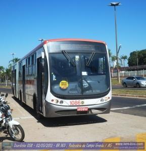 Viação Cidade Morena 1086 Busscar UrbanusS PlusS Mercedes- Benz OF1722M Articulado